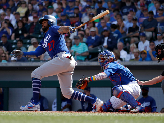 Dodgers Cubs Spring Baseball